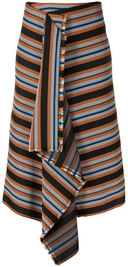 Dorothee striped asymmetric skirt