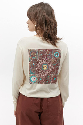 Urban Outfitters Patterns Cropped Long Sleeve Tee