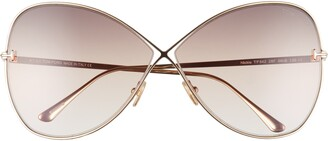 Tom Ford Nickie 66mm Gradient Oversize Butterfly Sunglasses