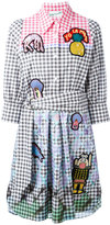Peter Pilotto embroidered patch checked dress - women - Cotton/Spandex/Elastane - 10