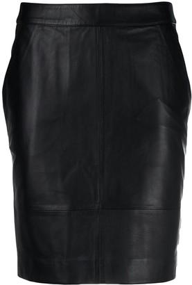 Gestuz Leather Mini Skirt