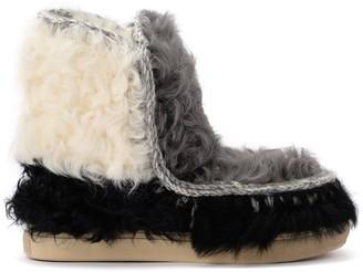 Mou Eskimo Sneaker Ankle Boots In Multicolor Lambskin