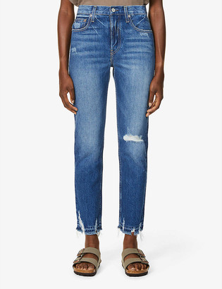 TRAVE Constance distressed mid-rise straight leg jeans