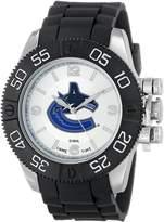 Game Time Men's NHL-BEA-VAN Beast Round Analog Watch