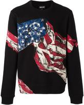 Just Cavalli American flag printed sweatshirt - men - Cotton/Polyester - S