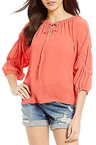 Gibson & Latimer Peasant Sleeve Blouse