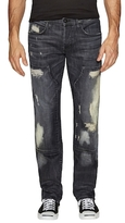 Hudson Byron Workwear Distressed Straight Jeans