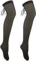 Charlotte Russe Lace-Up Back Socks