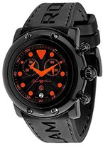 Glam Rock Women's GR61114-ORGS Miami Beach Chronograph Black Textured Dial Black Silicone Watch