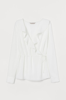 H&M Flounced wrapover blouse