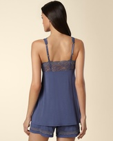 Soma Intimates Embraceable Deco Lace Sleep Tank Pacific Blue