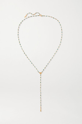 Chan Luu Gold-plated Bead Necklace - one size