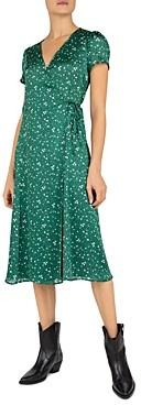 Gerard Darel Sara Floral Print Wrap Dress