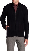 Ben Sherman Cable Knit Zip Sweater