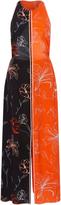 Diane von Furstenberg Floral Paneled Silk Dress