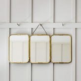 Graham and Green Tri-Fold Carriage Mirror In Gold