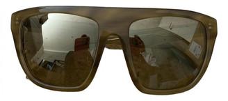 Alexander Wang Khaki Plastic Sunglasses