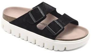 Birkenstock Women's Arizona Suede Leather Platform Sandals from Finish Line