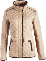 Weatherproof Cement Flap-Pocket Quilted Jacket