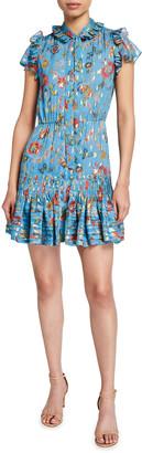 Derek Lam 10 Crosby Edith Floral Print Ruffle Hem Dress