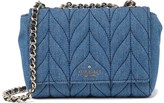 Kate Spade briar lane denim quilted mini emelyn shoulder bag