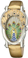 Brillier Women's 19-01 Gd Royal Plume Analog Display Swiss Quartz Gold Watch