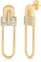 Glamrocks Jewelry Century Safety Pin Earrings
