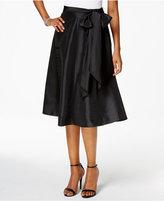 MSK Taffeta Belted A-Line Skirt