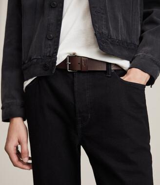 AllSaints Dunston Leather Belt