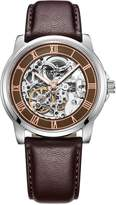 Kenneth Cole New York Men's KC1745 Automatic Brown Skeleton Dial Brown Leather Strap