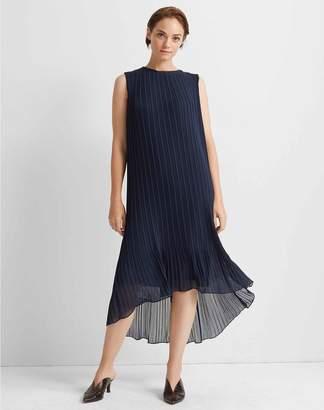 Club Monaco Pleated High Low Dress