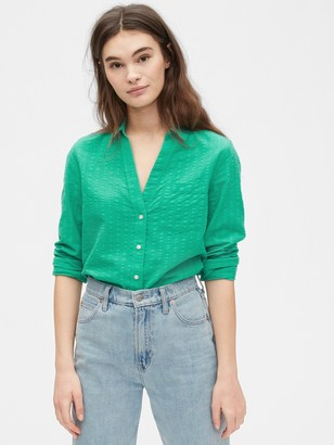 Gap Long Sleeve Perfect Shirt