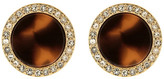 Fossil Tortoise Shell & Crystal Embellished Stud Earrings