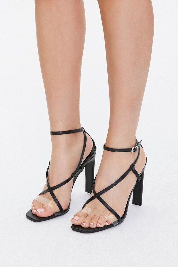Forever 21 Strappy Faux Leather High Heels