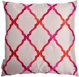 Matthew Williamson Grey & Pink Jali Trellis Cushion