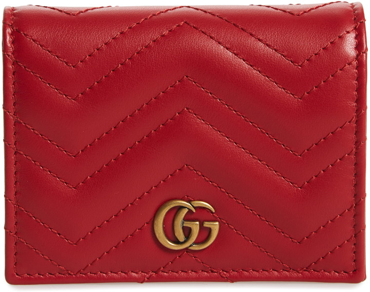 info for ce66c 91d0d GG Marmont 2.0 Matelasse Leather Card Case