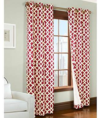 Thermalogic 70920-188-8063-802 Trellis Printed Cotton Grommet Panels