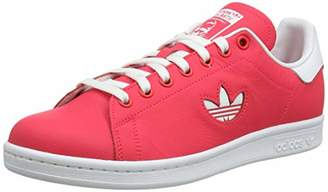 adidas Men's Stan Smith Gymnastics Shoes, FTWR White/Shock red