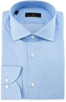 Ike Behar Gold Label Milano Mini-Houndstooth Dress Shirt, Sky Blue