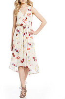 Lucky Brand Sleeveless Painted Floral Print Dress