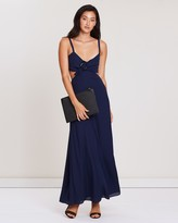 Fame & Partners O-Ring Cutout Dress