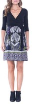 Olian Women's Print Silk & Jersey Surplice Maternity Dress