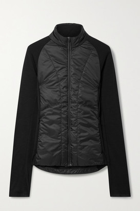 FALKE ERGONOMIC SPORT SYSTEM Quilted Shell And Stretch-knit Jacket - Black