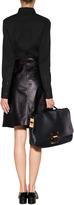 Jil Sander Navy Leather Skirt in Black