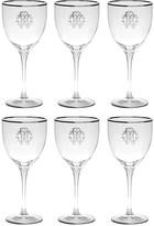 Roberto Cavalli Monogram Wine Goblets - Set of 6 - Platinum