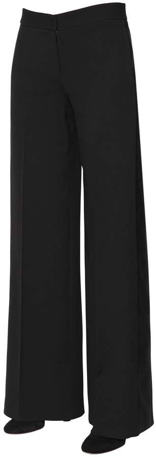 Alexander McQueen Light Wool & Silk Blend Tuxedo Pants