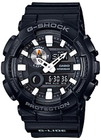 Casio Gax-100b-1aer G-shock G-lide Tide Graph Resin Strap Watch, Black