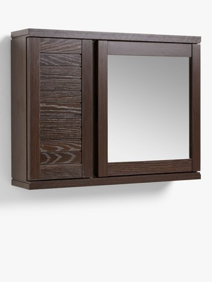 John Lewis & Partners Bali Double Mirrored Bathroom Cabinet, Brown