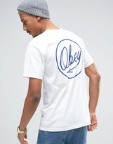 Obey T-shirt With Ballpoint Back Print