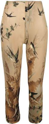 Jean Paul Gaultier Pre-Owned nature print cropped leggings